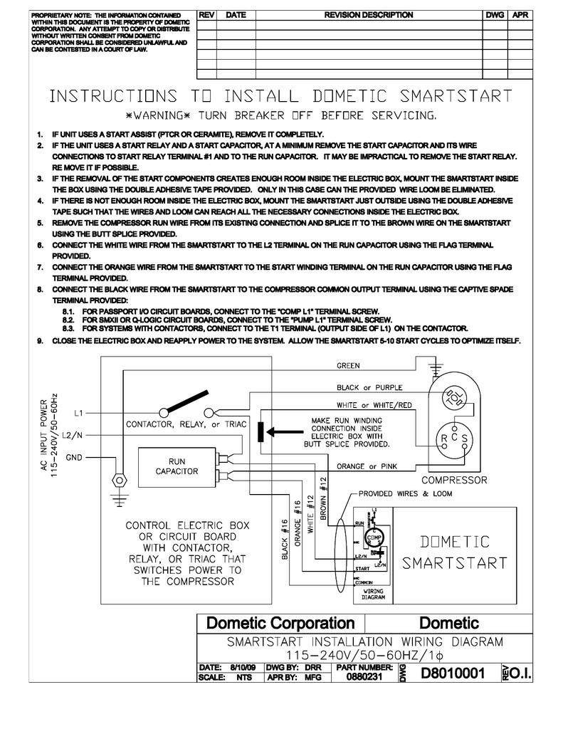 Dometic SmartStart Installation guide   ManualzzManualzz