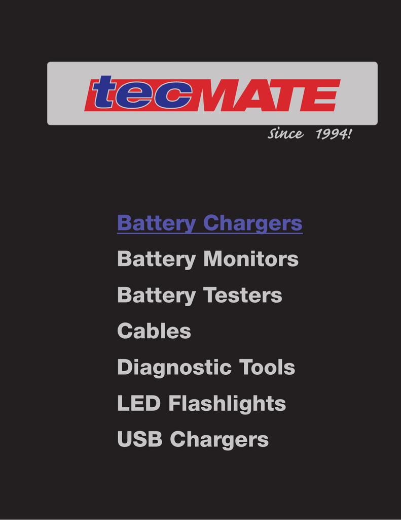Vehicle charge system tester with 6-LED emergency 12V flashlight SAE OptiMATE LED O-120 weatherproof.