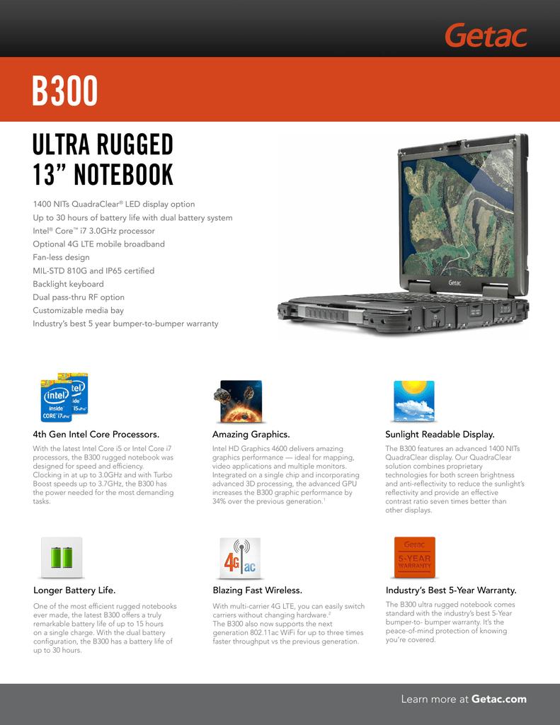 "Ultra rUgged 13"" NoteBook | manualzz com"