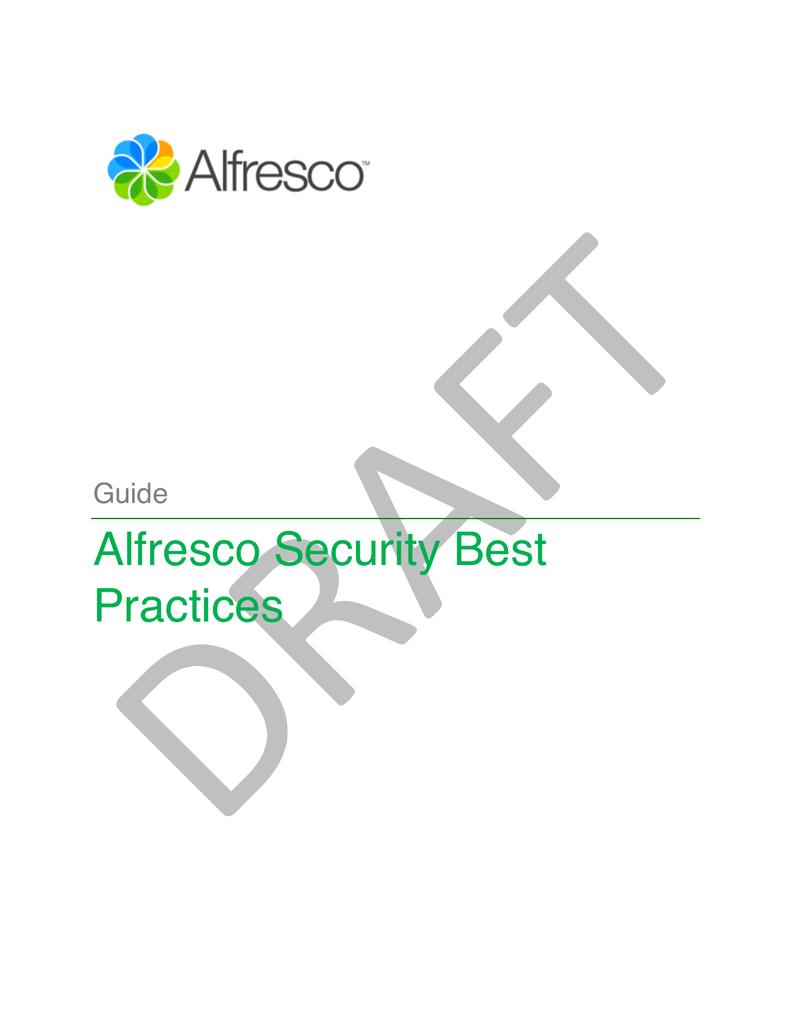 Alfresco Security Best Practices | manualzz com