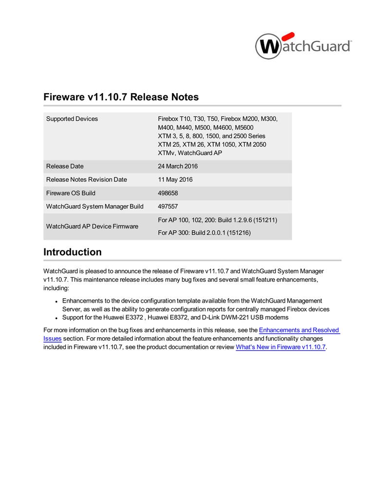 Fireware v11 10 7 Release Notes   manualzz com