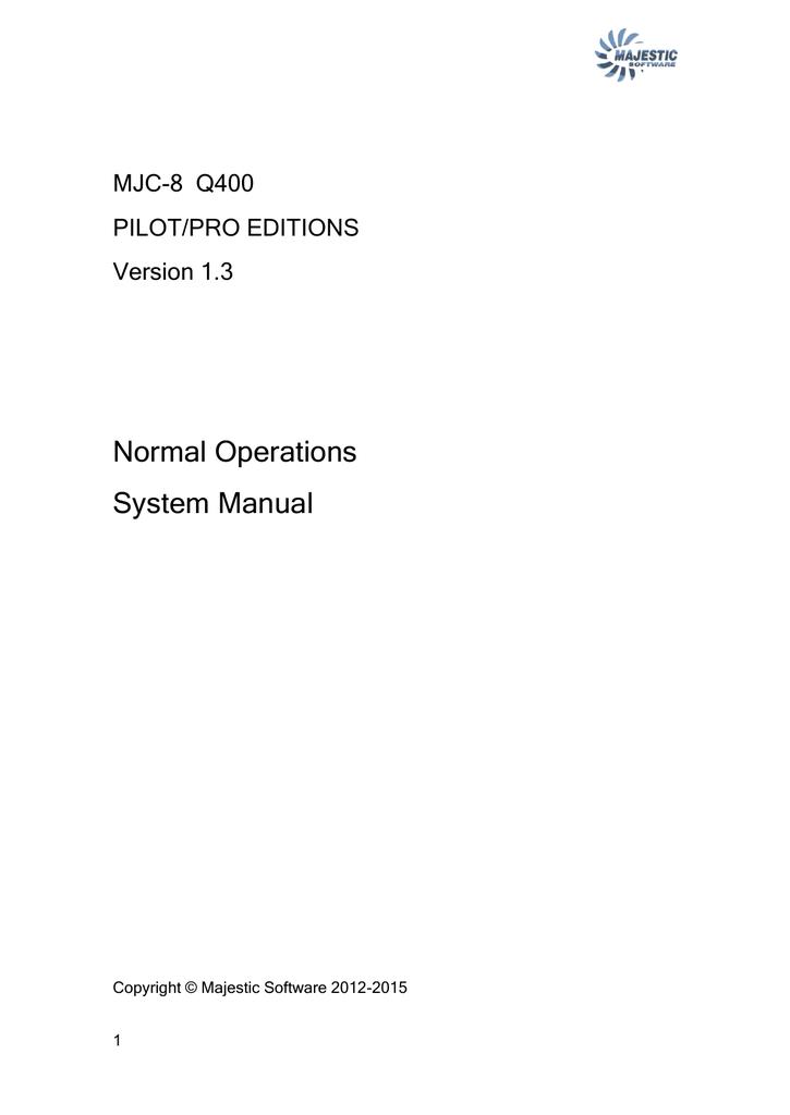 Normal Operations System Manual | manualzz com