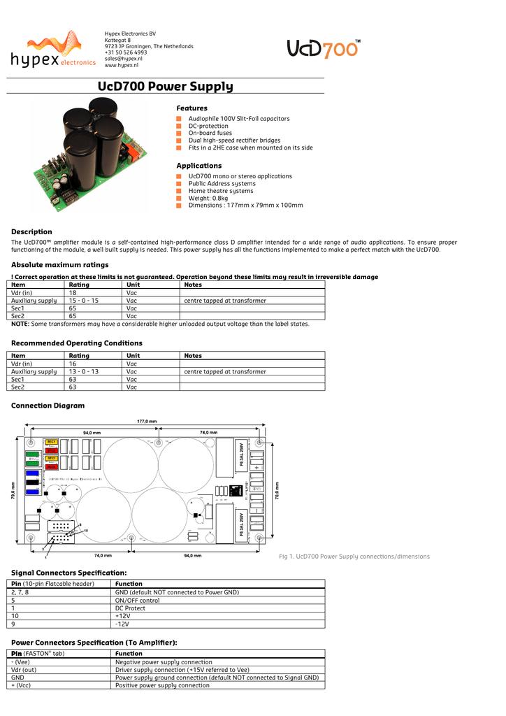 UcD700 Power Supply | manualzz com