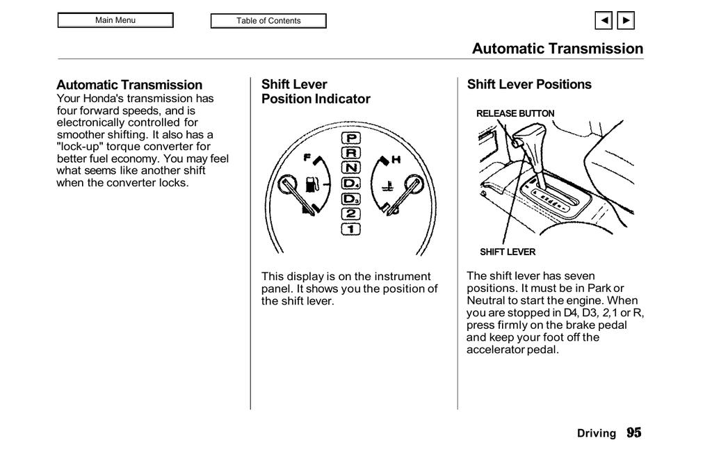Automatic Transmission | manualzz com