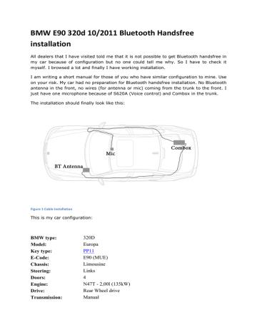 Bmw E90 Bluetooth Manual By M4j0 Manualzz, Bmw Wiring Diagrams E90