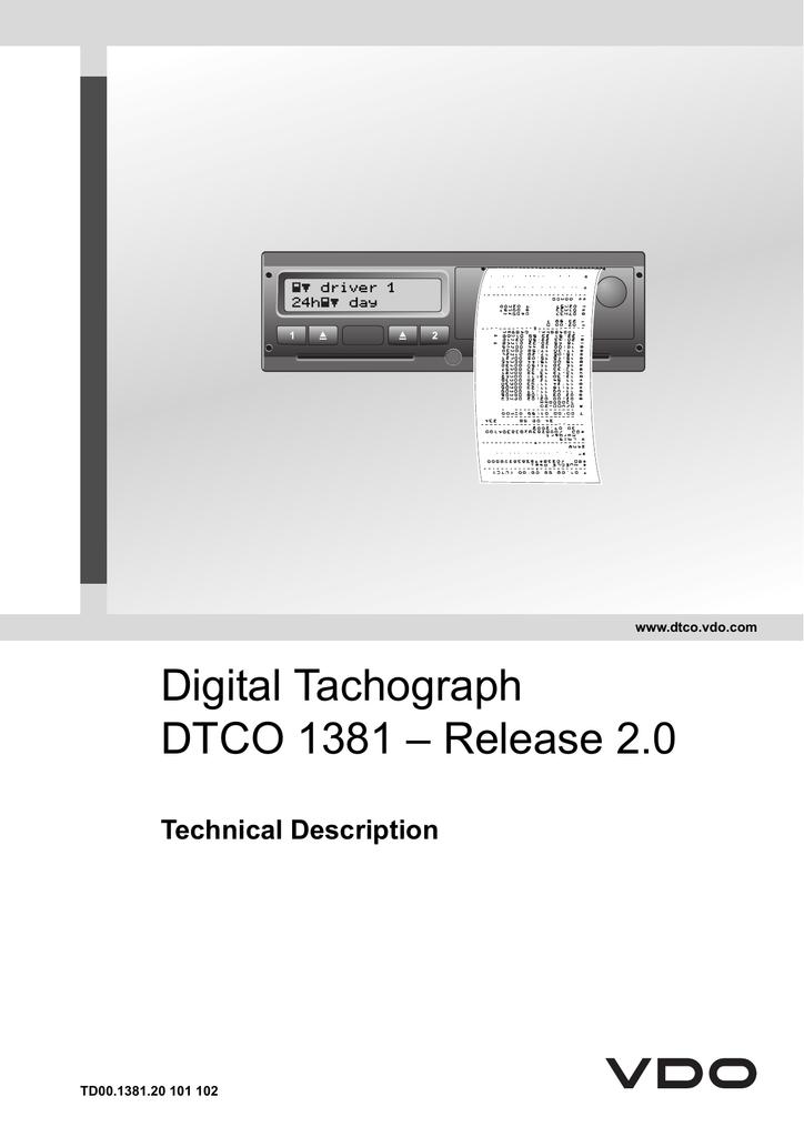 vdo kitas wiring diagram technical description dtco 1318 manualzz  technical description dtco 1318 manualzz