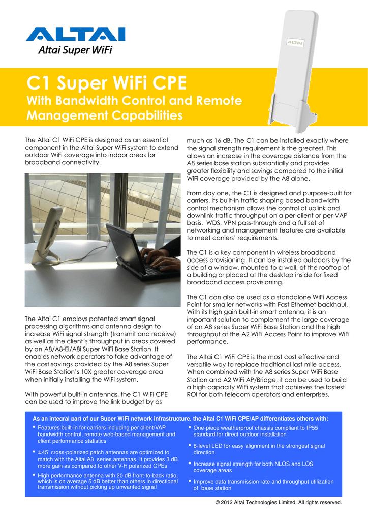 C1 Super WiFi CPE   manualzz com
