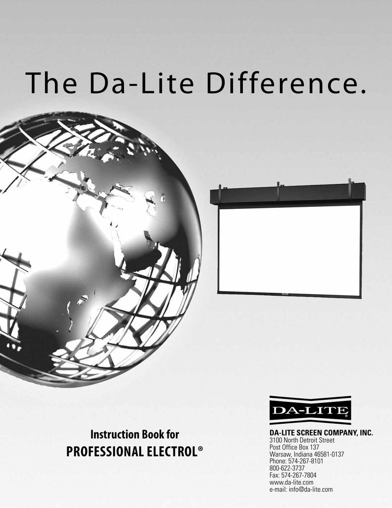 The Da-Lite Difference. | manualzz.com on