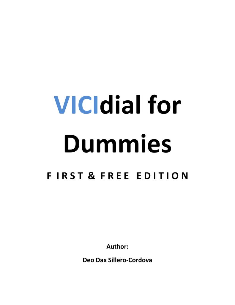 VICIdial for Dummies | manualzz com