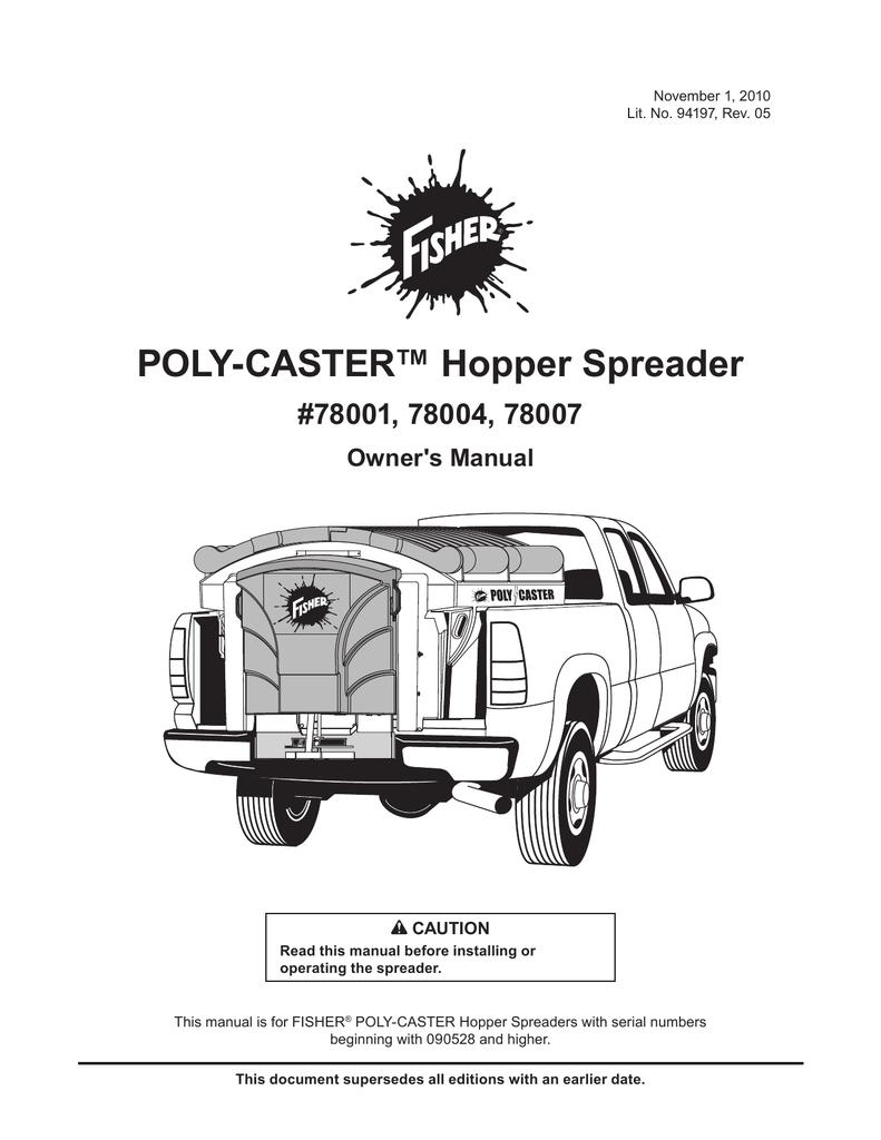 OM POLY-CASTER Hopper Spreader 1 5, 1 8, 2 5 | manualzz com