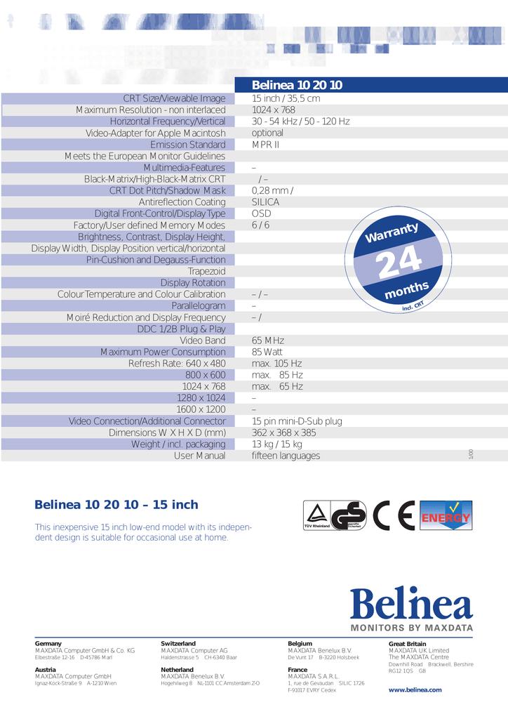DRIVERS UPDATE: BELINEA 10 15 20