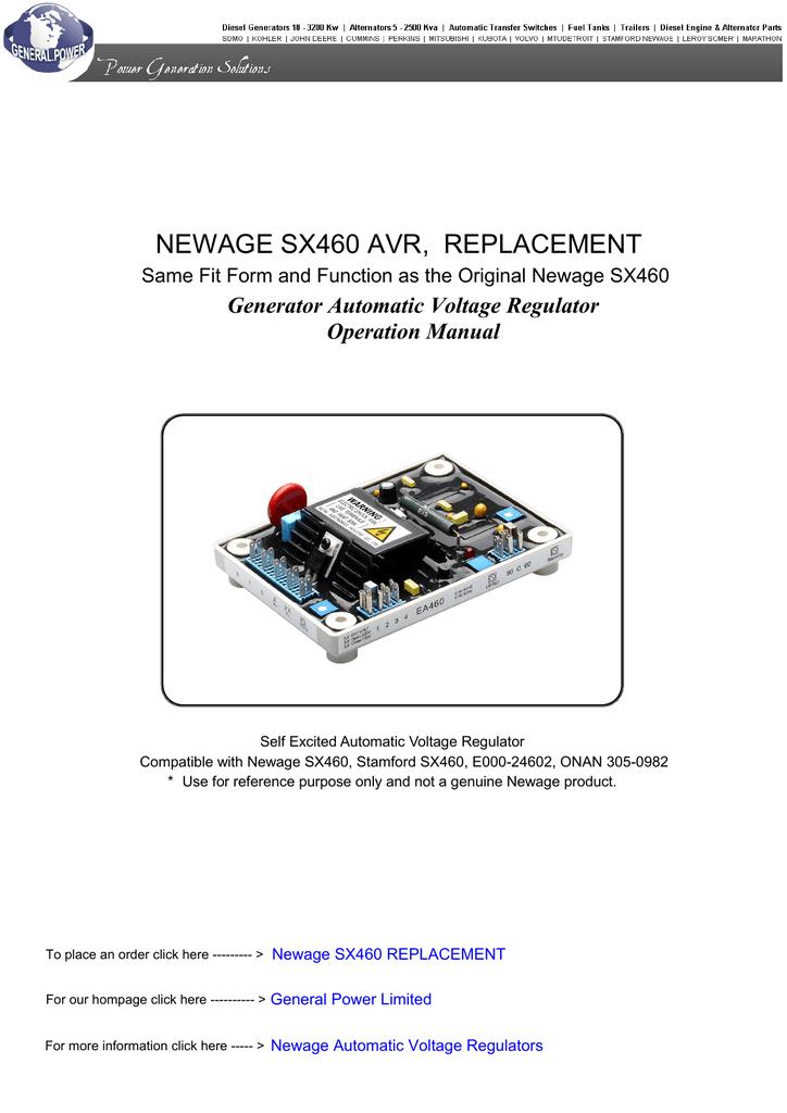 [SCHEMATICS_44OR]  newage sx460 avr, replacement - diesel generator sales | transfer | Manualzz | Sx460 Avr Wiring Diagram |  | manualzz