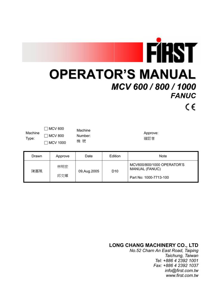 Operator`s Manual MCV 600_800_1000 Fanuc   manualzz com