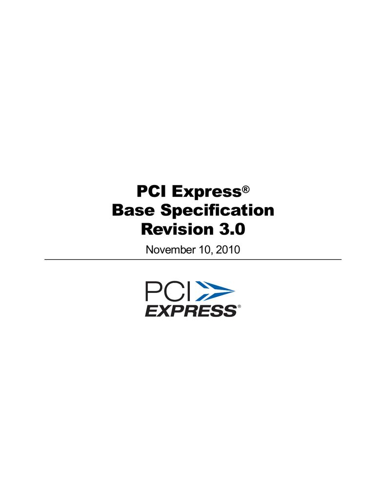 PCI Express® Base Specification Revision 3 0   manualzz com