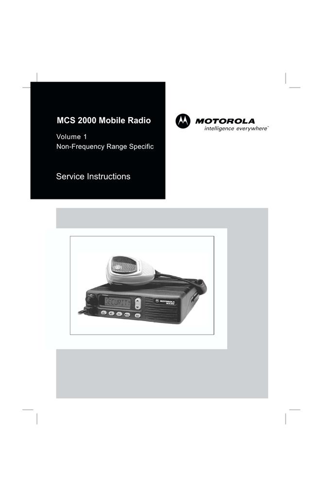 Service Instructions MCS 2000 Mobile Radio   manualzz com