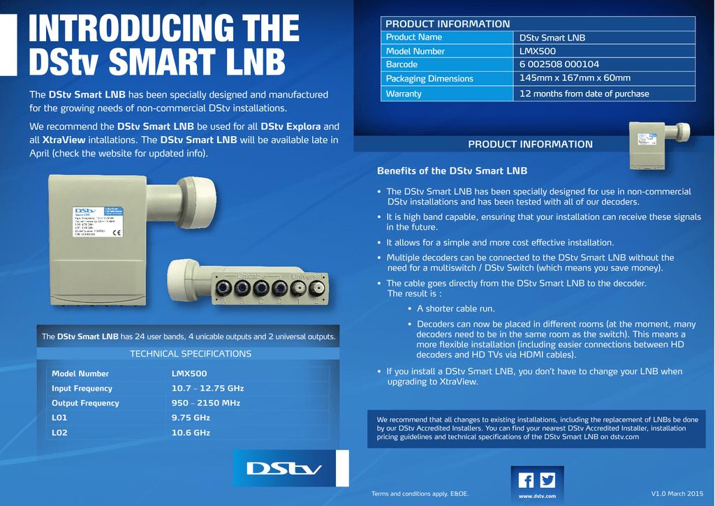 INTRODUCING THE DStv SMART LNB | manualzz com