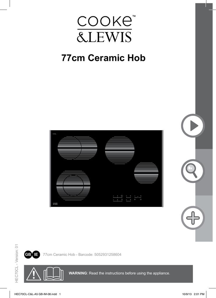77cm Ceramic Hob Manualzz Com