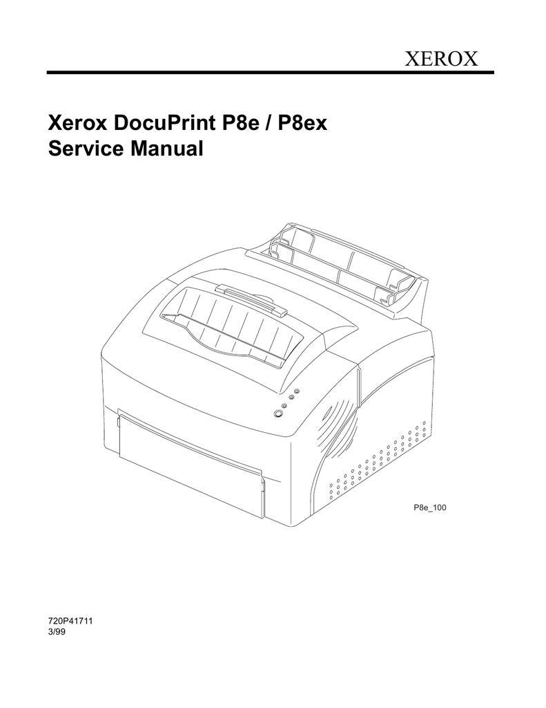 XEROX Xerox DocuPrint P8e / P8ex Service Manual | manualzz com