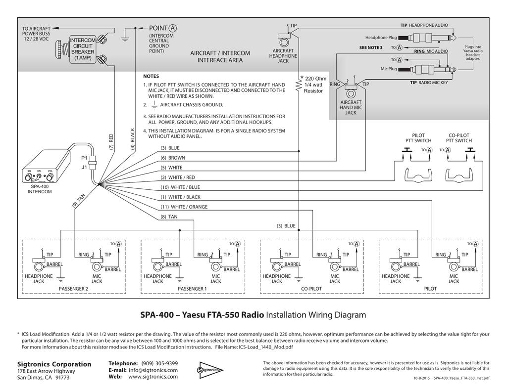 spa 400 \u2013 yaesu fta 550 radio installation wiring diagram  spa 4s intercom wiring diagram list