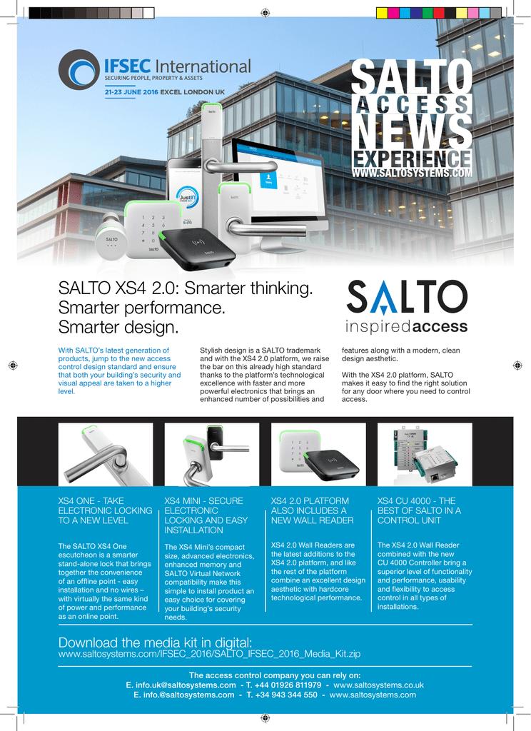 SALTO XS4 2 0: Smarter thinking  Smarter | manualzz com