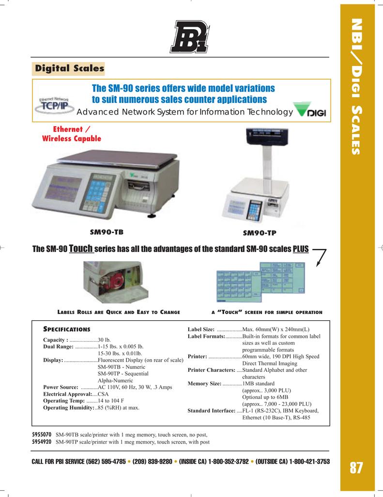 NBI/Digi Scales and Printers | manualzz com