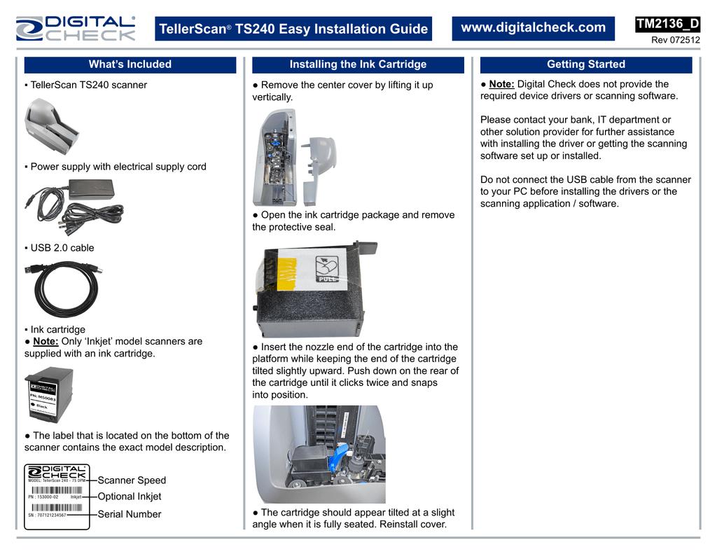TS240 Easy Installation Guide | manualzz com