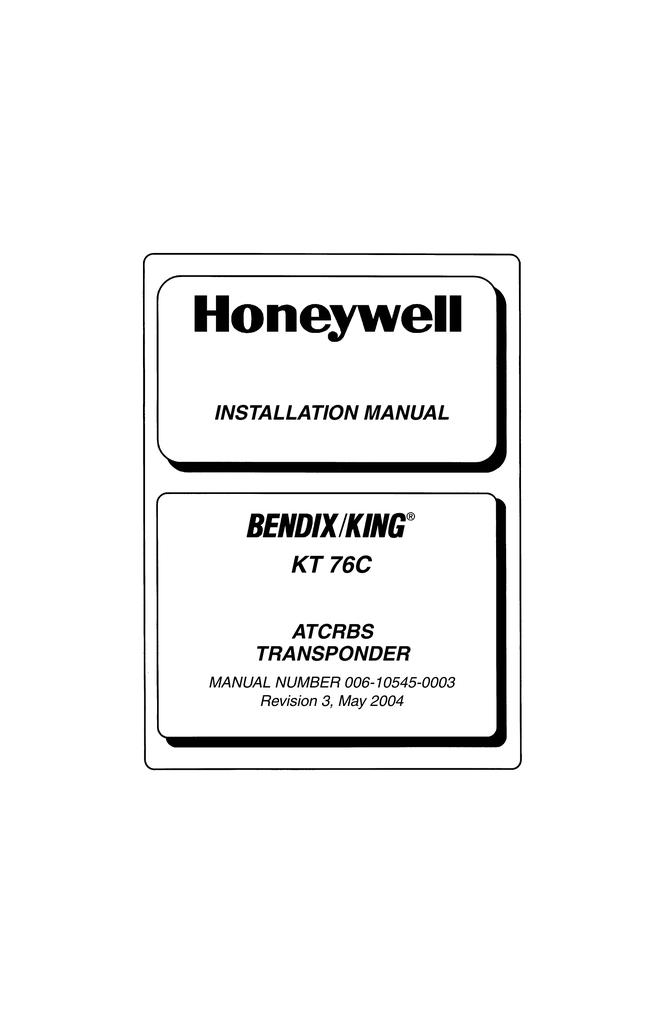 Bendix King Kt76a Wiring Diagram