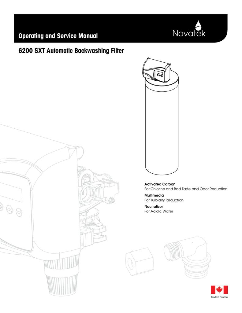 Novatek 6200 SXT Automatic Backwashing | manualzz com