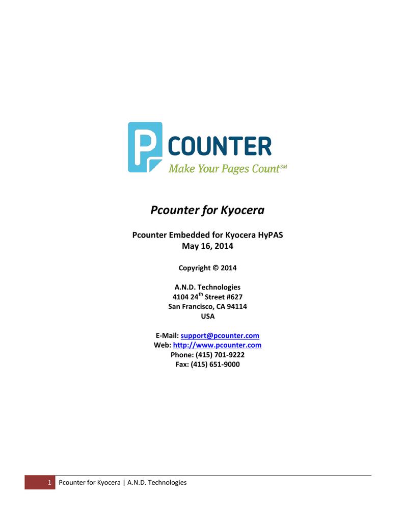 Pcounter for Kyocera | manualzz com