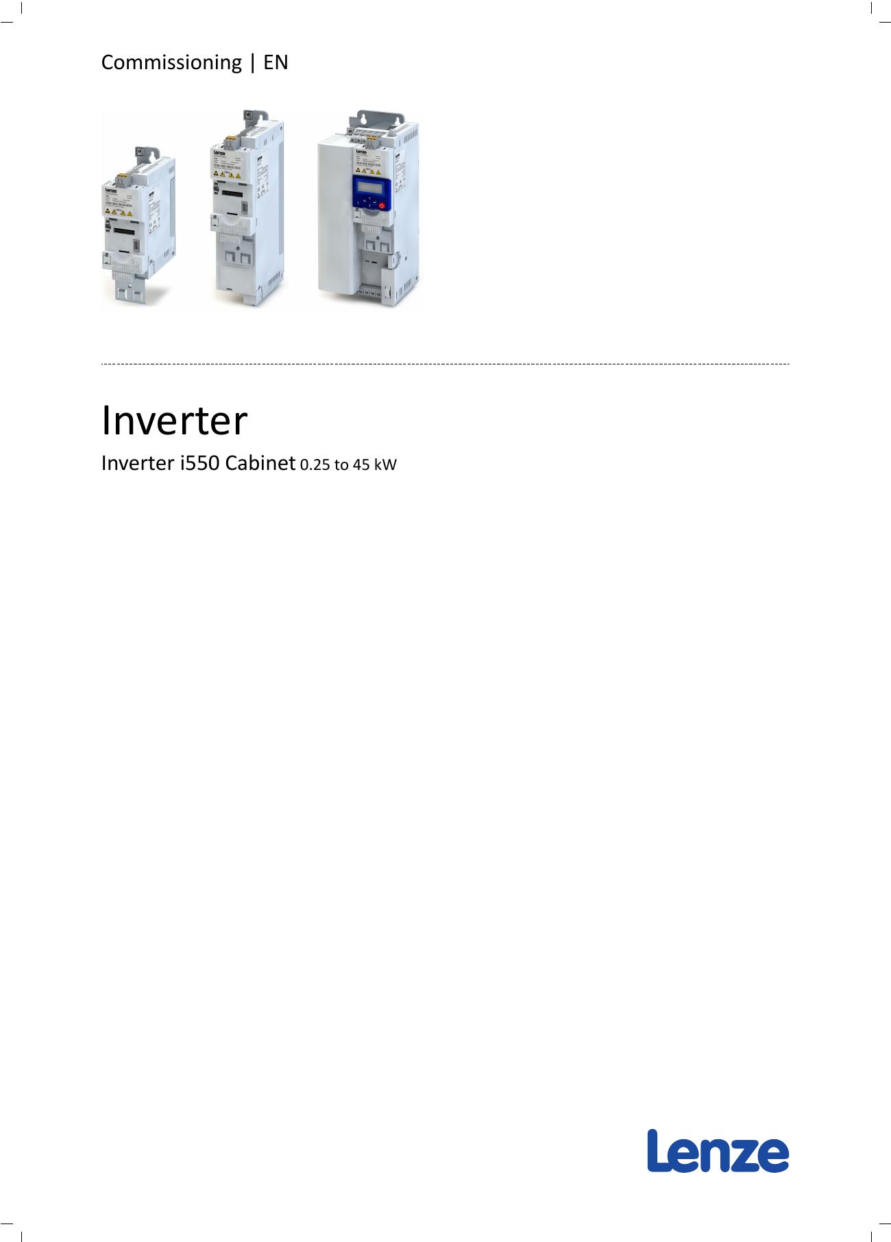 Lenze i550 Manual - Inverter Drive Supermarket | manualzz com