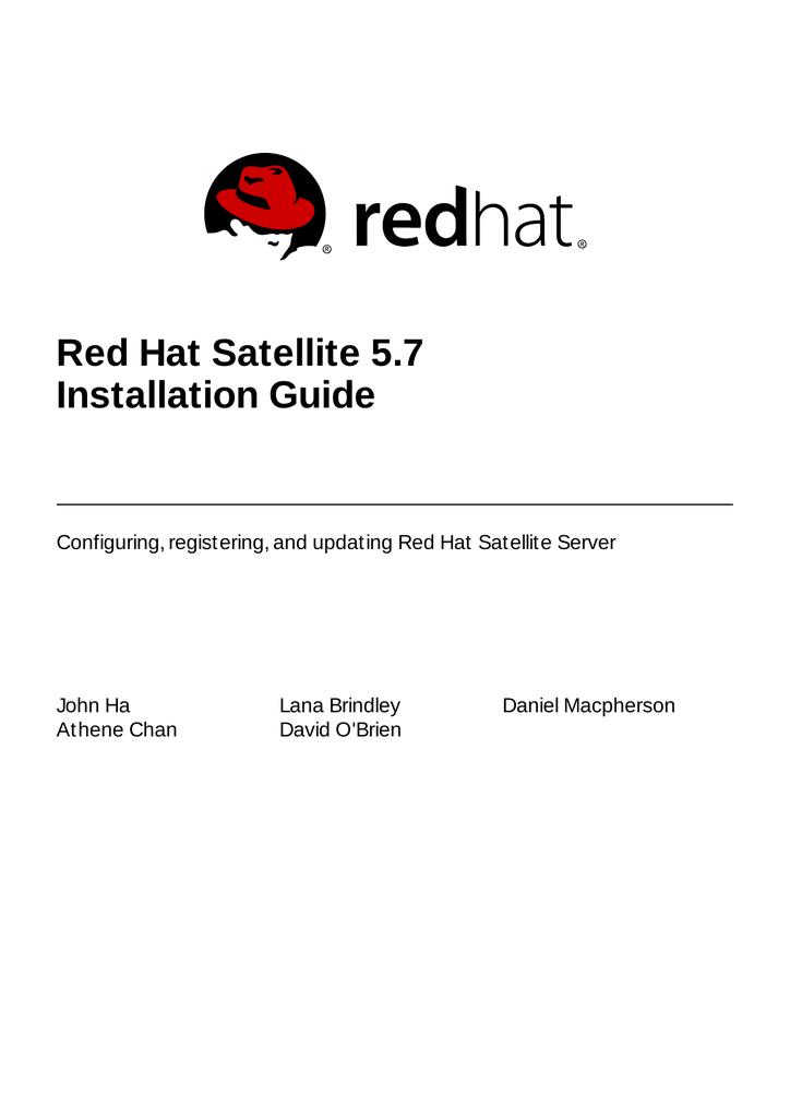 Red Hat Satellite 5 7 Installation Guide | manualzz com