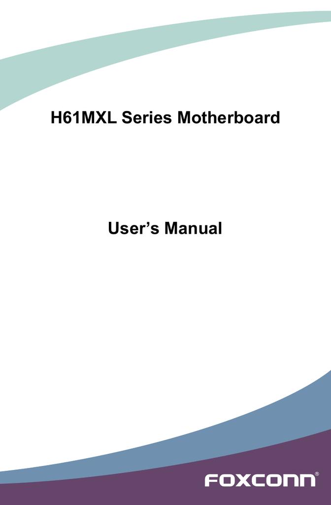 H61MXL Series Motherboard User`s Manual | manualzz com