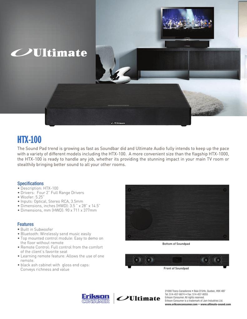 HTX-100 - Ultimate Sound   manualzz com
