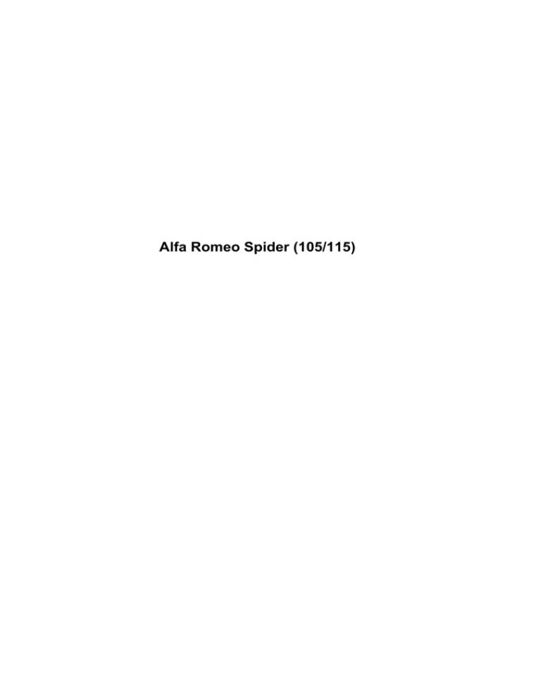alfa romeo spider (105/115) - alfa   manualzz  manualzz