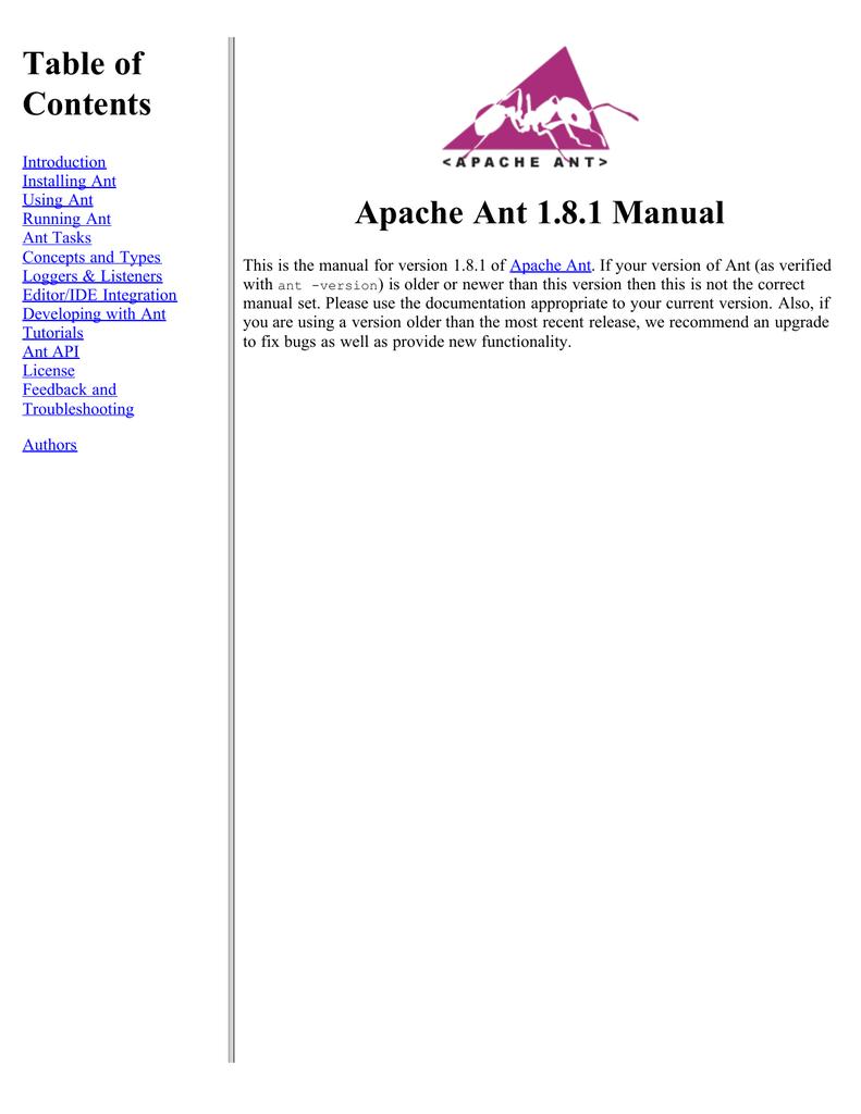 Apache Ant User Manual   manualzz com