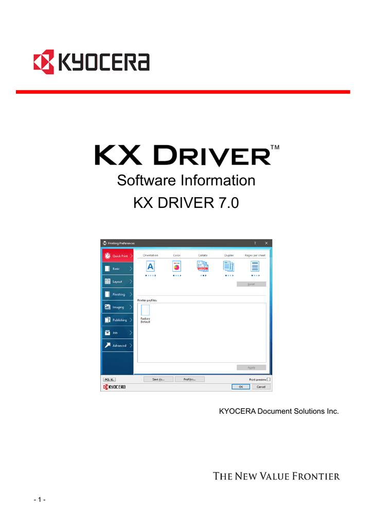 KX DRIVER 7 0_Software Information | manualzz com