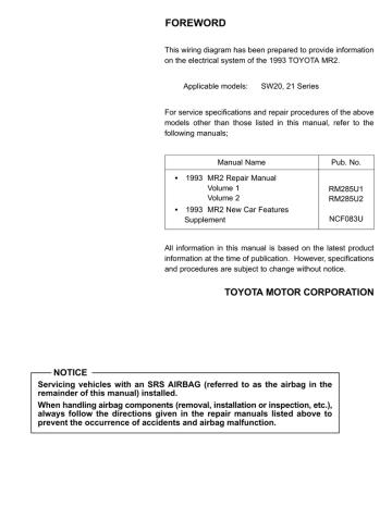 1993 Mr2 Wiring Diagram Manualzz, Mr2 Wiring Diagram