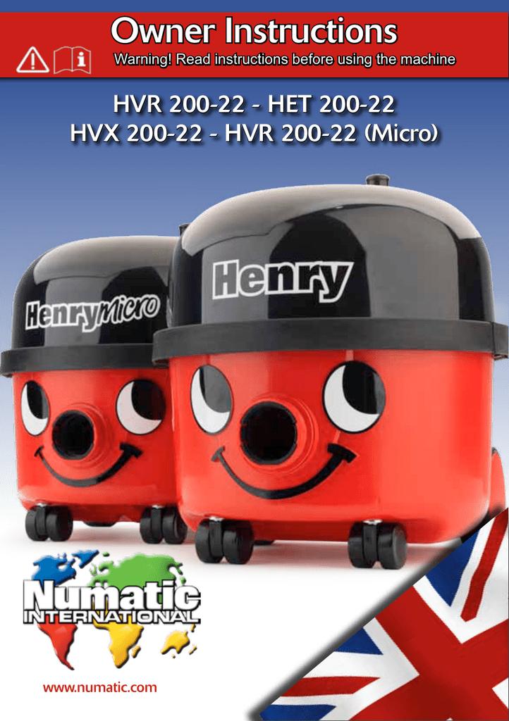 Numatic Henry HVR160 HET160 HVB160 Hoover Tritex filtre primaire 901607 Genuine