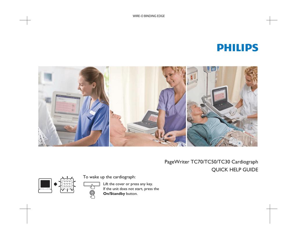 PageWriter TC70/TC50/TC30 Cardiograph Quick Help Guide | manualzz com