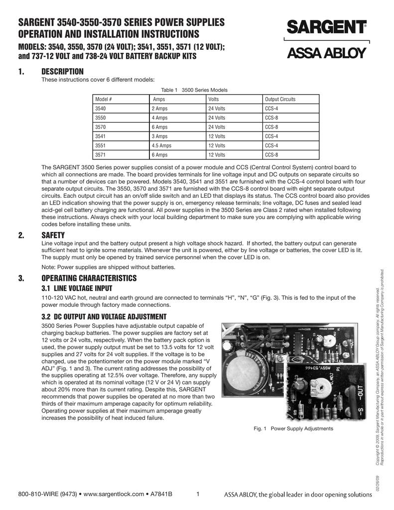 sargent 3540-3550-3570 series power supplies | manualzz com