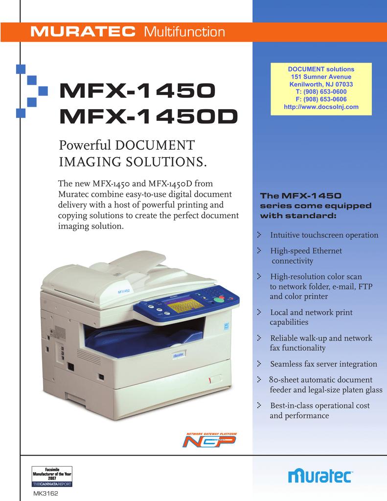 MFX-1450 MFX-1450D   manualzz com
