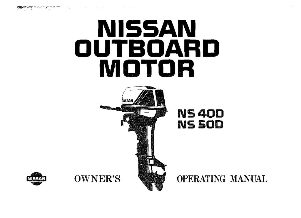 nissan ns40d - online outboards | manualzz  manualzz