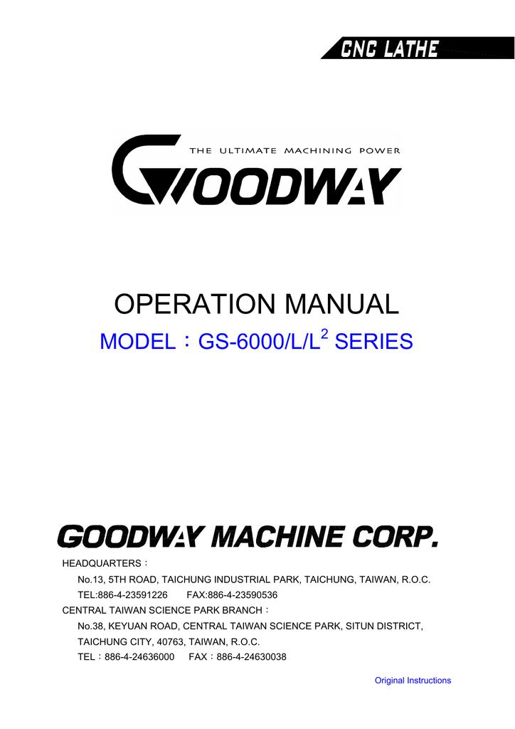 Operation Manual GS 6000 Series | manualzz com
