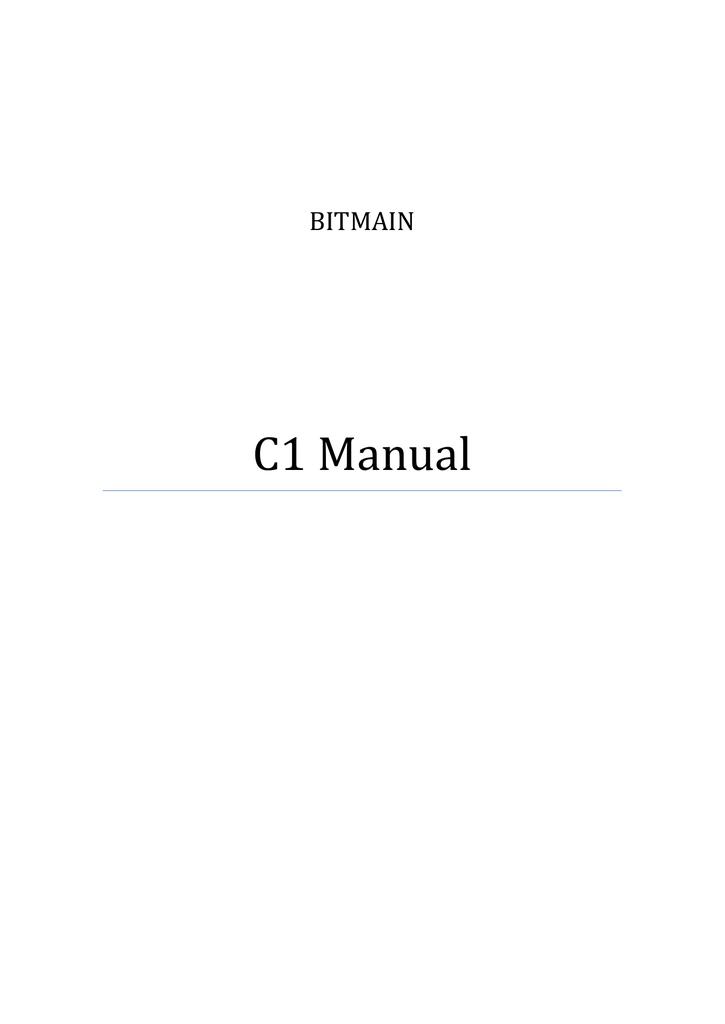 C1 Manual | manualzz com