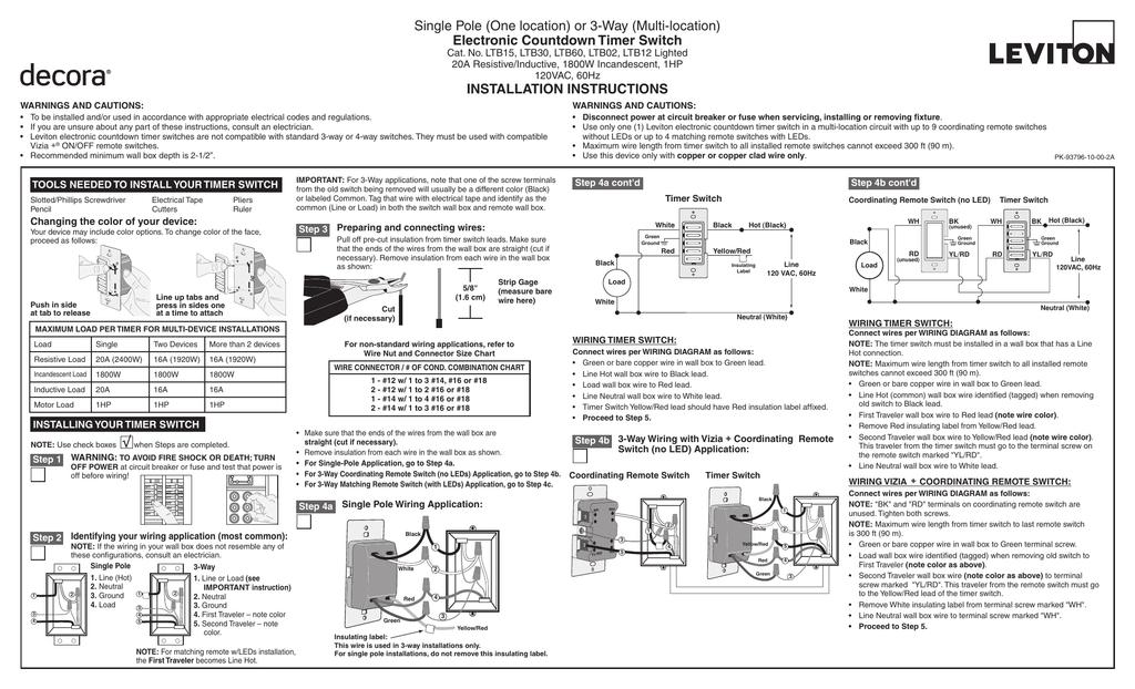 leviton ltb301lz installation guide  manualzz