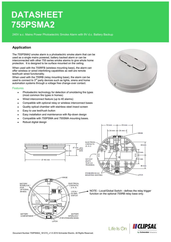 755psma2 photoelectric smoke alarm  manualzz