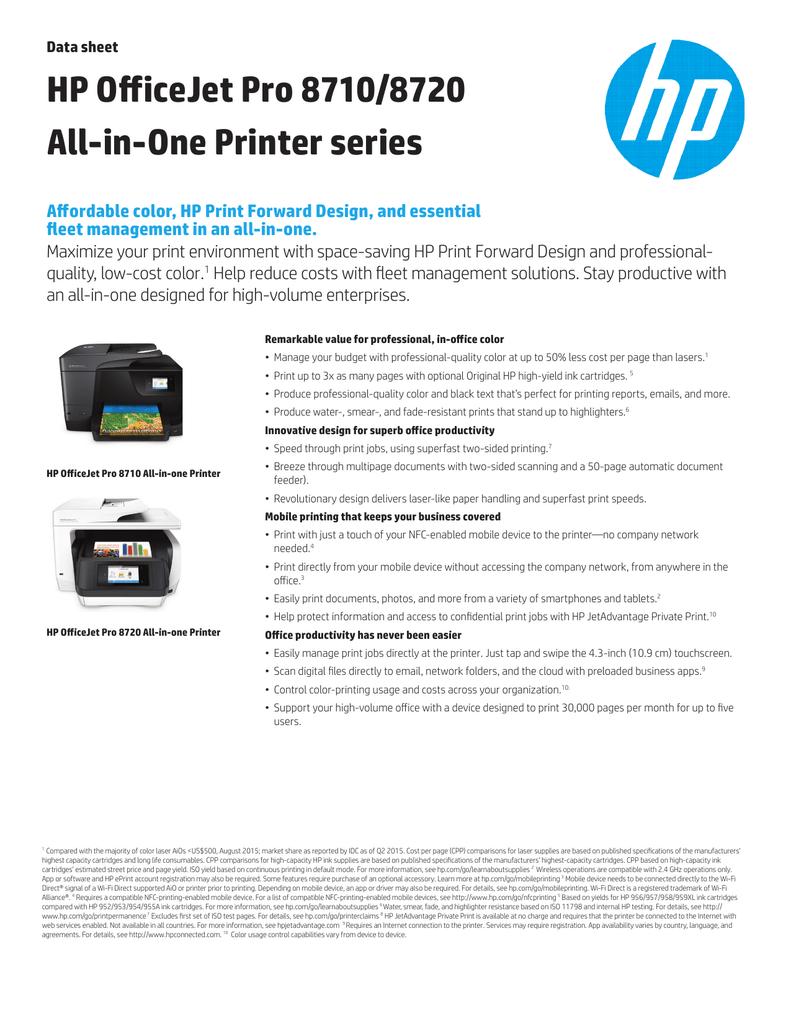 HP OfficeJet Pro 8710/8720 All-in | manualzz com