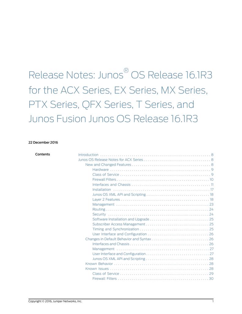 Release 16 1R3 - Juniper Networks | manualzz com