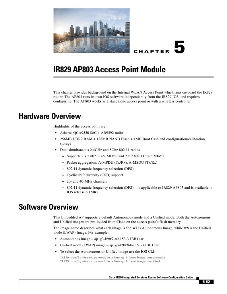 IR829 AP803 Access Point Module | manualzz com