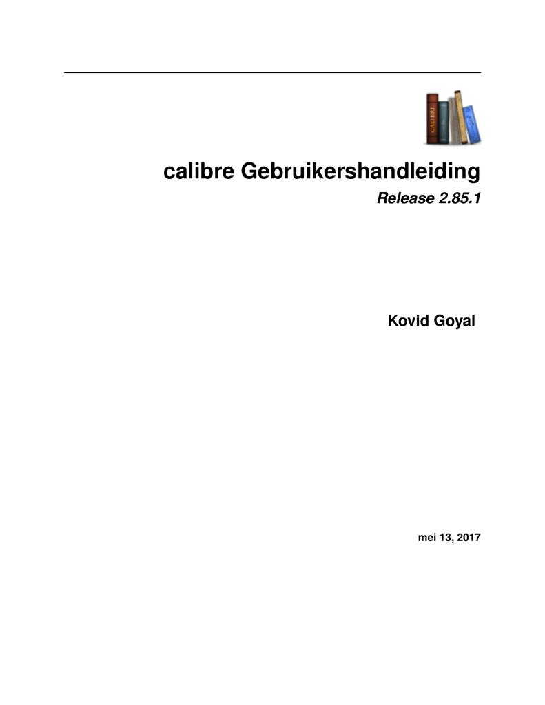 calibre Gebruikershandleiding | manualzz com